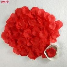 1000 pçs colorido artificial pétalas de rosa casamento pétalas colorido seda flor acessórios casamento rosa 7z