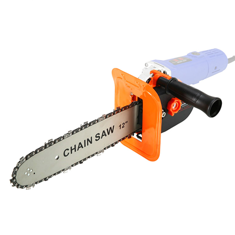 12inch Electric Chainsaw Bracket Adjustable Universal M10 M14 M16 Chain Saw Part Angle Grinder Into Chain-Saw Straight Handle