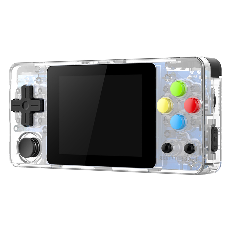 Ldk 2.6 Inch Game Console Open Source System Mini Handheld Build-In 3000 Games Retro Game Mini Family Tv Video Console Clear