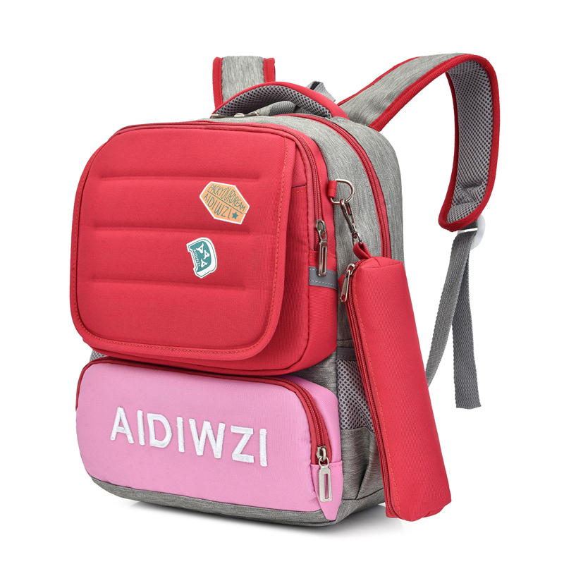 Girls Candy Colors School Bags Backpack Boys Blue Backpack Bag For Schoolbags Kids School Bag Rucksack Grade 1-3
