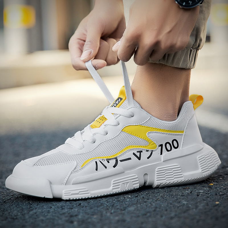 Fashion Outdoor Mens Color Comfortable Sneakers High Quality Brand Bandage Breathable Shoes Mesh Soft Letters Tennis Mens Shoes