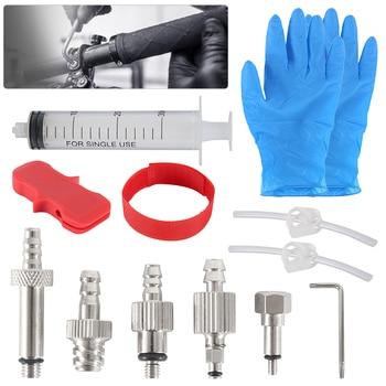 Herramienta de reparación de bicicletas, juego de herramientas de purga de freno hidráulico para AVID,SRAM,FORMULA,HAYES, freno de aceite Mineral, herramienta de reparación de bicicletas con embudo