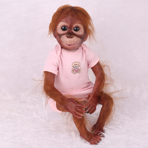 55 CM handmade detailed paint reborn baby Monkey newborn baby doll collectible art high quality doll
