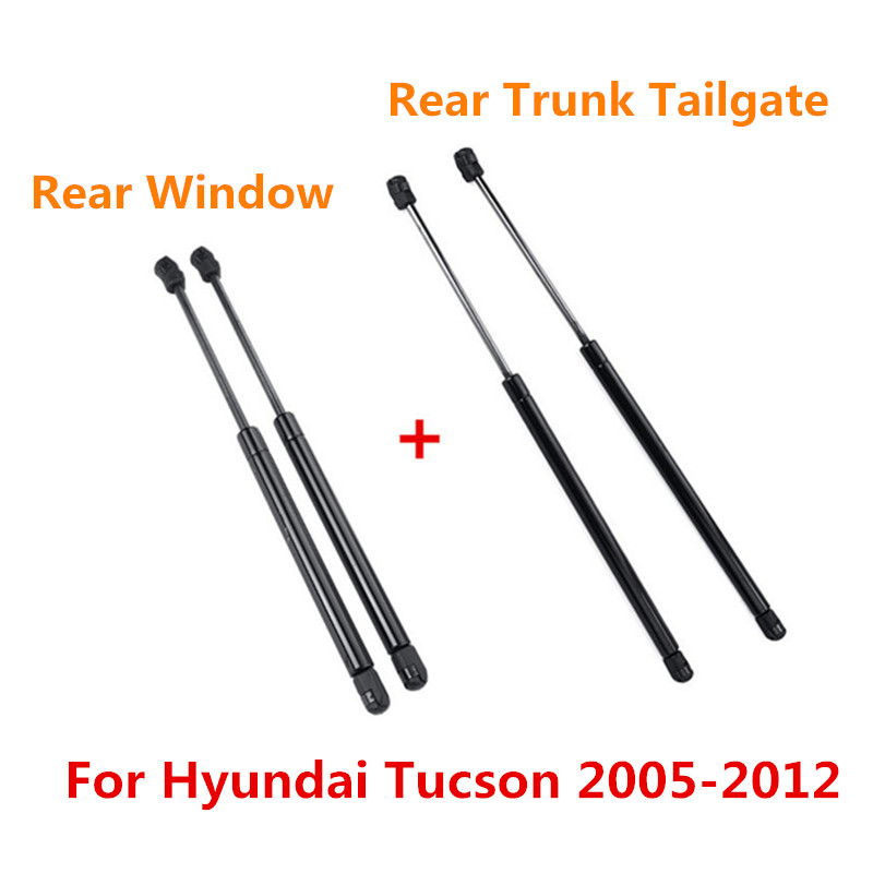 2/4x Rear Trunk Tailgate Boot Rear Window Glass Gas Spring Shock Lift Struts Support SG367011  SG367012 For Hyundai Tucson 05-12