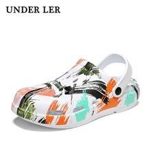 Сандалии мужские резиновые обувь для сада и пляжа клоги влюбленных