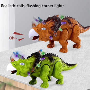 Electric Dinosaur Toy Walking Tyrannosaurus Glowing Laying Eggs Light Sound With Action Figure Dinosaur Model Toy For Kids Gifts electric walking dinosaur toys glowing simulation with sound animals model for kids boys children interactive