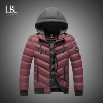 Men  Winter Brand New Casual Warm Thick Waterproof Jacket Parkas Coat Men New Autumn Outwear Windproof Hat Parkas Jacket Men 1