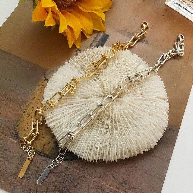 925 Sterling Silver Lock Chain Bracelet for Women Men Vintage Handmade Hasp Adjustable Bracelet Party Jewelry Gift S-B451 5