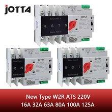 Jotta W2R-2P/3P/4P 16A 32A 63A 80A 100A 125A 220V ATS automatyczny przełącznik transferu elektryczne przełącznik przetworników, przełączniki podwójna moc przełącznik