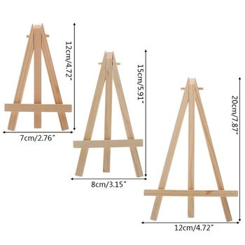 Natural Wood Mini Easel Frame Tripod Display Meeting Wedding Table Number Name Card Stand Holder Children Painting Craft - discount item  23% OFF Art Supplies