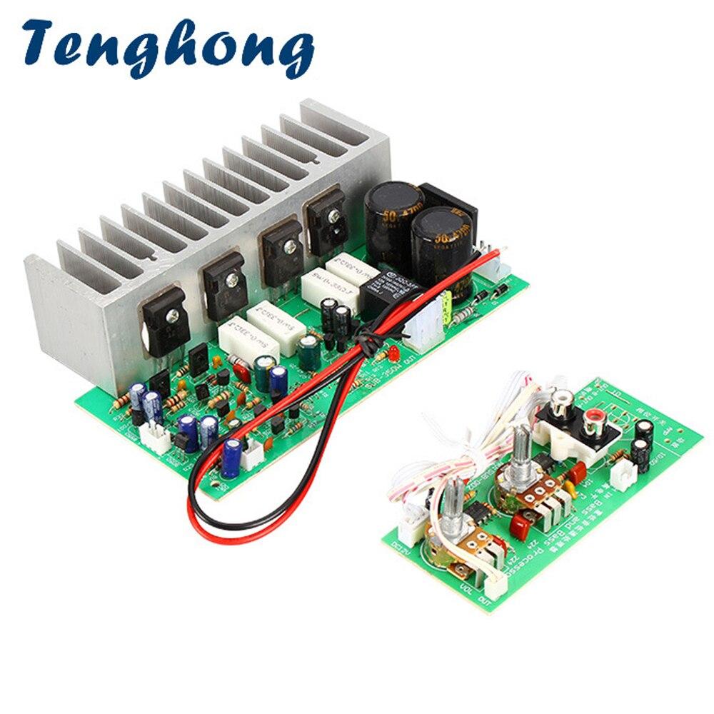 Tenghong 350W Subwoofer Amplificateur Double AC24-28V Audio Mono Puissance Subwoofer Amplificateur 10-12 pouces Subwoofer Haut-Parleur AMPLI