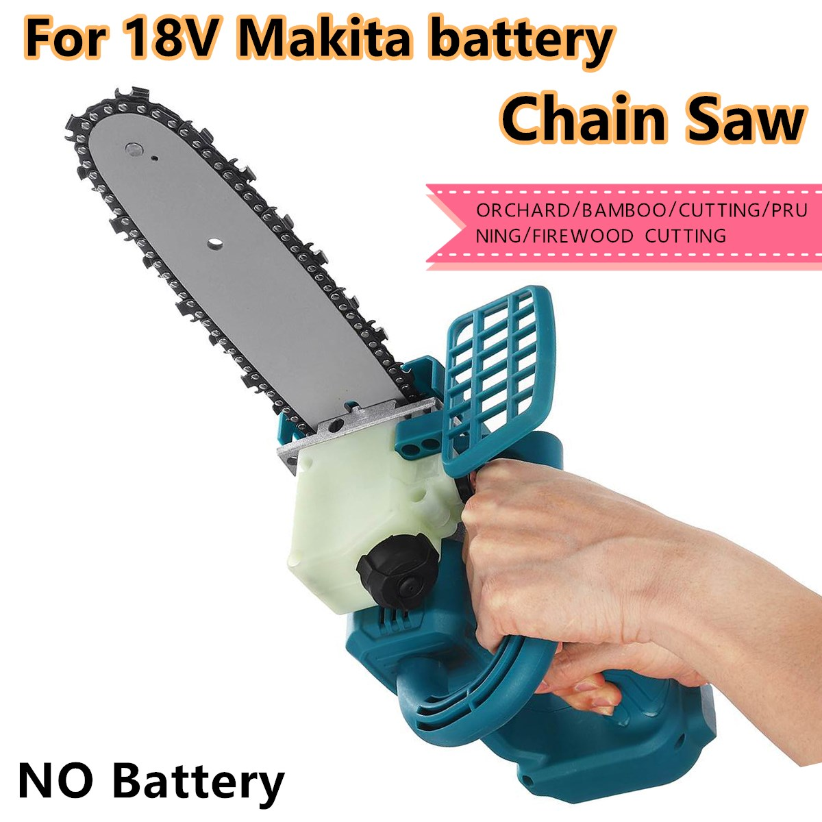 18V 8 inch Cordless Electric Saw Chainsaw Bracket Brushless Wood Cutting Machine Power Tools Without Battery For Makita Battery