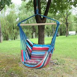 정원 교수형 의자 스윙 실내 야외 가구 해먹 교수형 로프 의자 스윙 의자 좌석 2 베개 해먹 캠핑