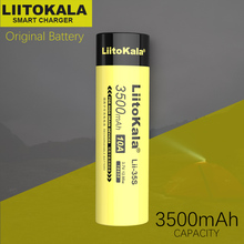 10PCS LiitoKala Lii 35S 18650 3.7V 3500mAh נטענת ליתיום סוללה עבור LED פנס