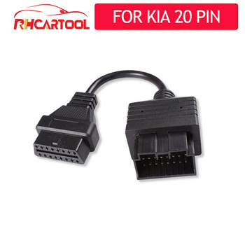 2020 For Car accessories OBD2 60/100 cm Extension cable Connector Adapter for kia 20 Pin to 16 Pin Auto Diagnostic Cable For kia