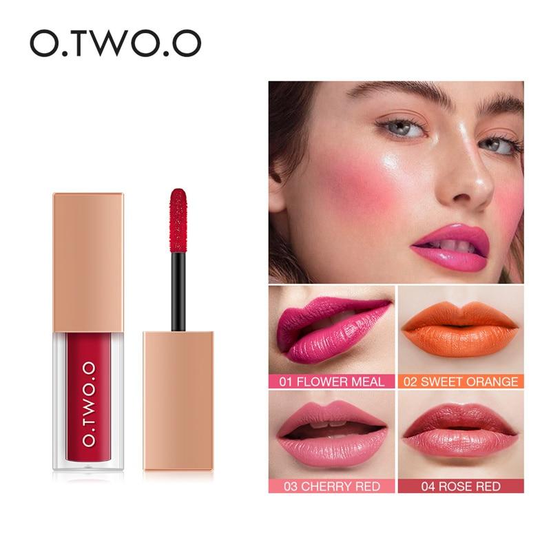 OTWOO Multifountion Watercolor Liquid Cheek Blush Lip Glaze Lip Gloss Blush Multi-purpose Makeup For Facial Makeup Four Colors