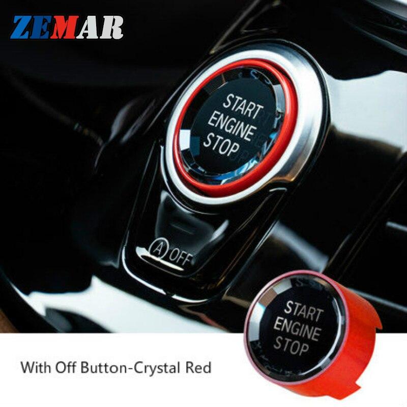 Кнопка переключения запуска и остановки двигателя автомобиля для BMW X1 X3 X5 X6 F15 F16 F48 F25 F30 F10 F20 F01 G01 G02 G30 G38 G11 G12 m 2017 2018 2019