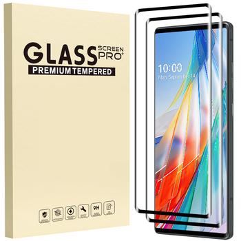 2 1Pack szkło do LG Wing Velvet 3D folia ochronna na wyświetlacz z zakrzywionymi krawędziami pełne pokrycie folia ochronna na LG Wing LG Velvet 5G Protect tanie i dobre opinie vsheel TEMPERED GLASS CN (pochodzenie) Folia na przód Protective film LG Wing Glass LG Velvet Glass