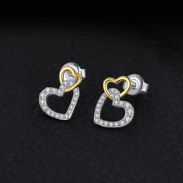 Infinity Heart Stud Earrings