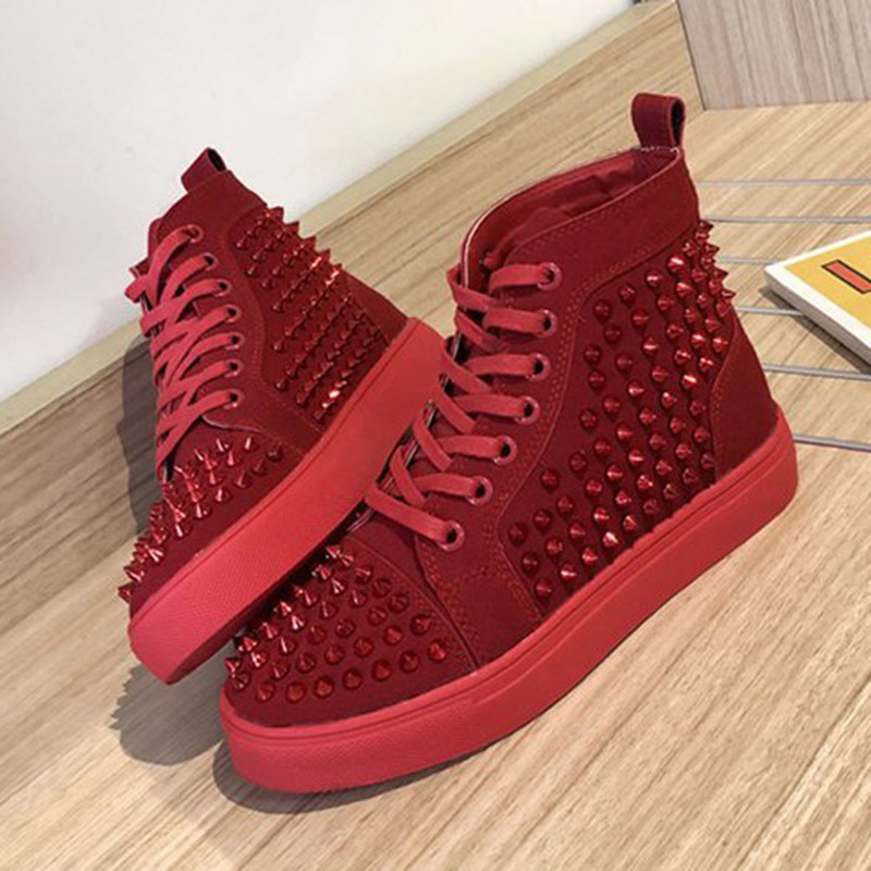 Solid Studded Eyelet Sneaker Lace-up Casual Flat Martin Boots For Women KH889