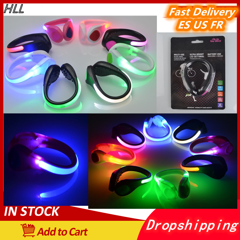 2 PCS Night Running Shoe Lights LED Walking Gear Waterproof Lamp Camping Fishing