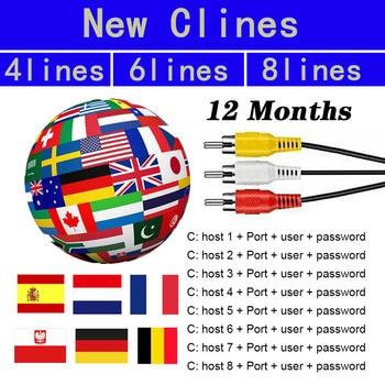 Full HD 1 Year Cccam europa Cline Server stable in Spain 3/4/5/6/7/8 Lines Oscam Reseller Panel free test for v7 v8 nova