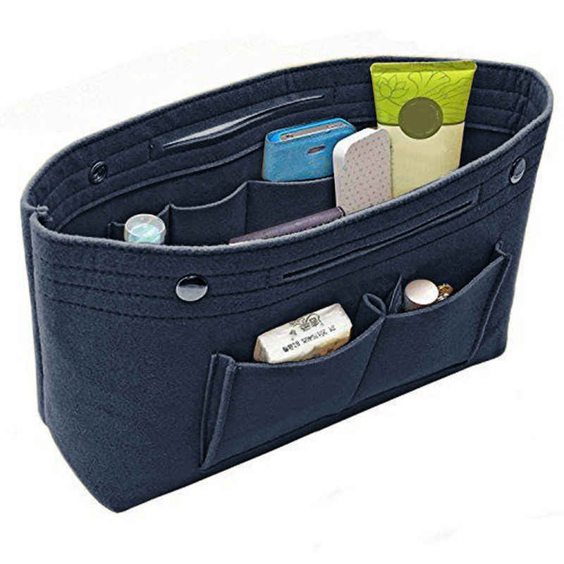 Mini Storgage Bag Multi Pockets Handtas Purse Organizer Vilt Insert Bag Multi Pockets Handtas Purse Organizer Houder Reizen