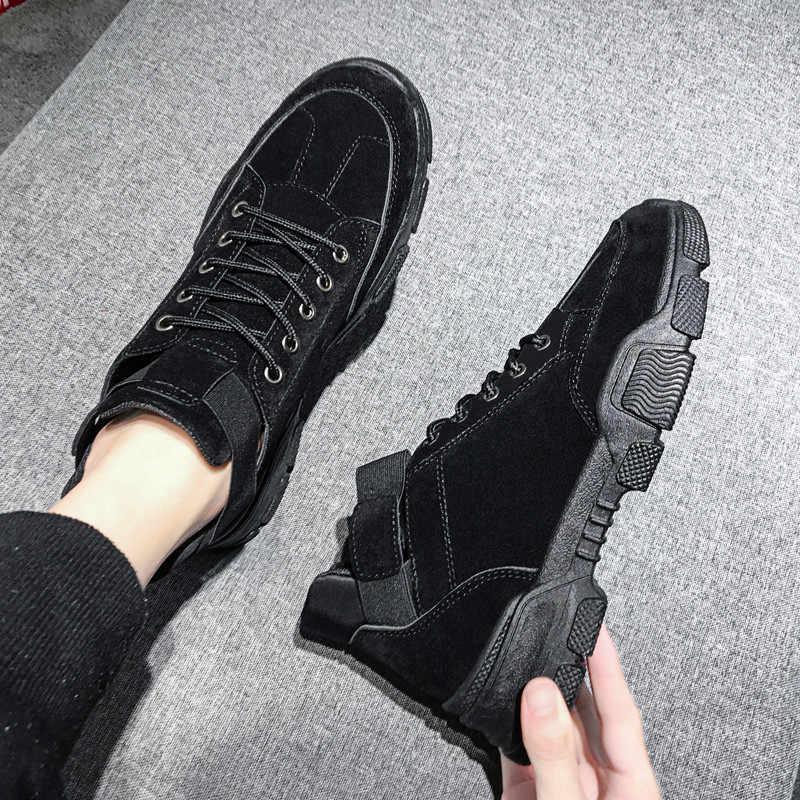 Mannen luxe low cut casual schoenen mannen rubber sneakers antislip dragen platte schoenen Zapatillas Hombre comfortabele lace-up schoenen
