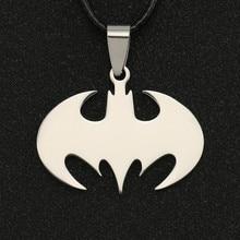 Batman colar bruce wayne o cavaleiro escuro cor prata pingente de aço inoxidável dc comics liga da justiça jóias masculino atacado