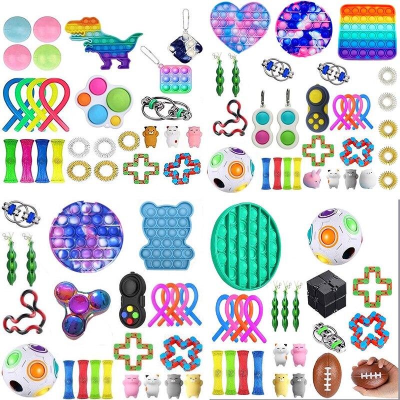 50 стилей Непоседа сенсорные набор игрушек, игрушка для снятия стресса, игрушки аутизм, тревожность снятия стресса поп пузырь Непоседа сенсорные игрушки для детей и взрослых|Игрушки-эспандеры|   | АлиЭкспресс