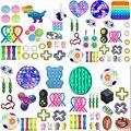 50 стилей Непоседа сенсорные набор игрушек, игрушка для снятия стресса, игрушки аутизм, тревожность снятия стресса поп-пузырь Непоседа сенсо...