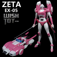 ZETA Transoformation G1 EX05 EX 05 Pearl Paint Pink Arcee MP Ratio Action Figure Robot Collection Toys