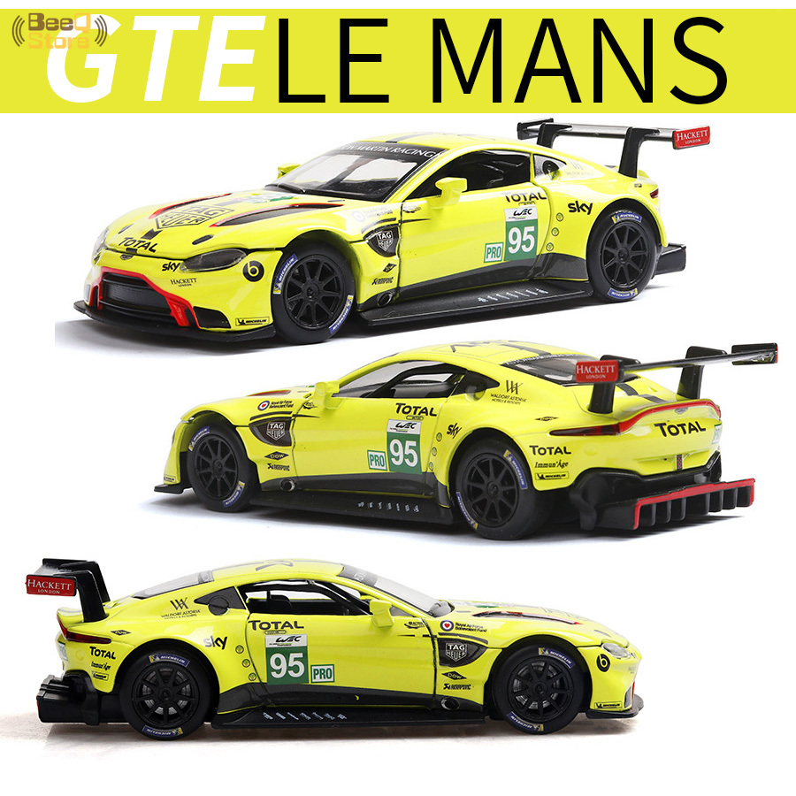 1:32 Alloy Vehicles Car Model Aston & Martin Vantage GTE Le Mans Diecast Metal Toy Model Pull Back Sound Light Racing Car
