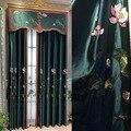 Новый китайский классический Лотос пруд лунный свет вышивка шторы для гостиной столовой спальни.