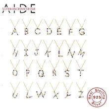 Aide Мода 26 букв кулон ожерелье для женщин с разноцветными
