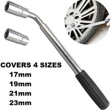 Teleskopowy klucz oczkowy klucz oczkowy klucz do kół z kluczem nasadowym narzędzia do naprawy samochodu 17/19, 21/23mm