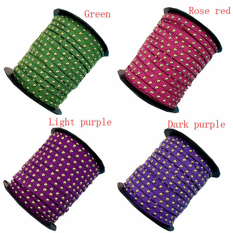 1 m/lote cuerda de gamuza sintética remache para hacer joyería pulsera collar gargantilla fabricación Diy Cordón de cuero