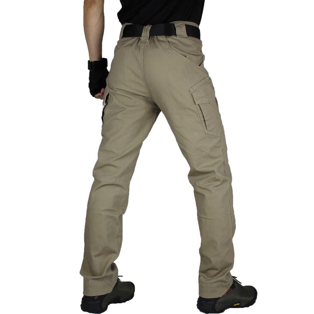Zuoxiangru Celana Kargo Pria Militer Luar Ruangan Celana Pria Celana Kerja Celana Panjang