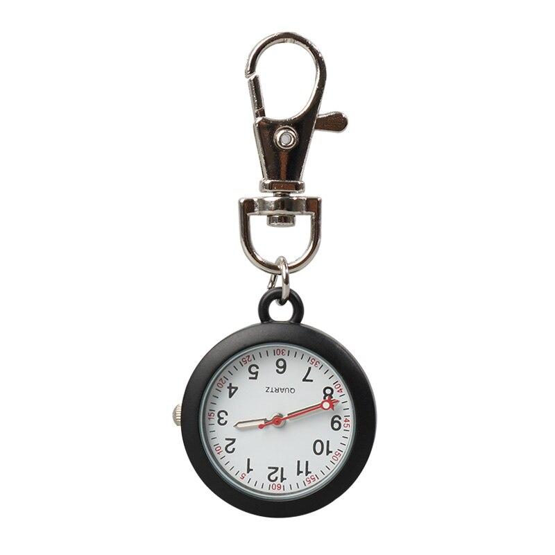 ALK FOB Nurse Pocket Watch Black Nurse Watch Keychain Hospital Clock Pink Luminous Watches Doctor Nursing Gift Dropshipping Hots