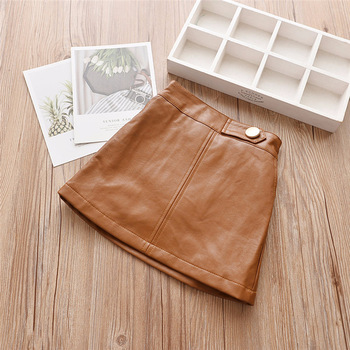 Baby Girls Skirts - PU Leather