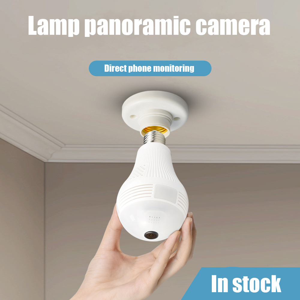 960P 1080P CCTV Camera IP Light Bulb Lamp CC Wireless Panoramic Home Security WiFi CCTV Fisheye 360 Degree Home Security Burglar