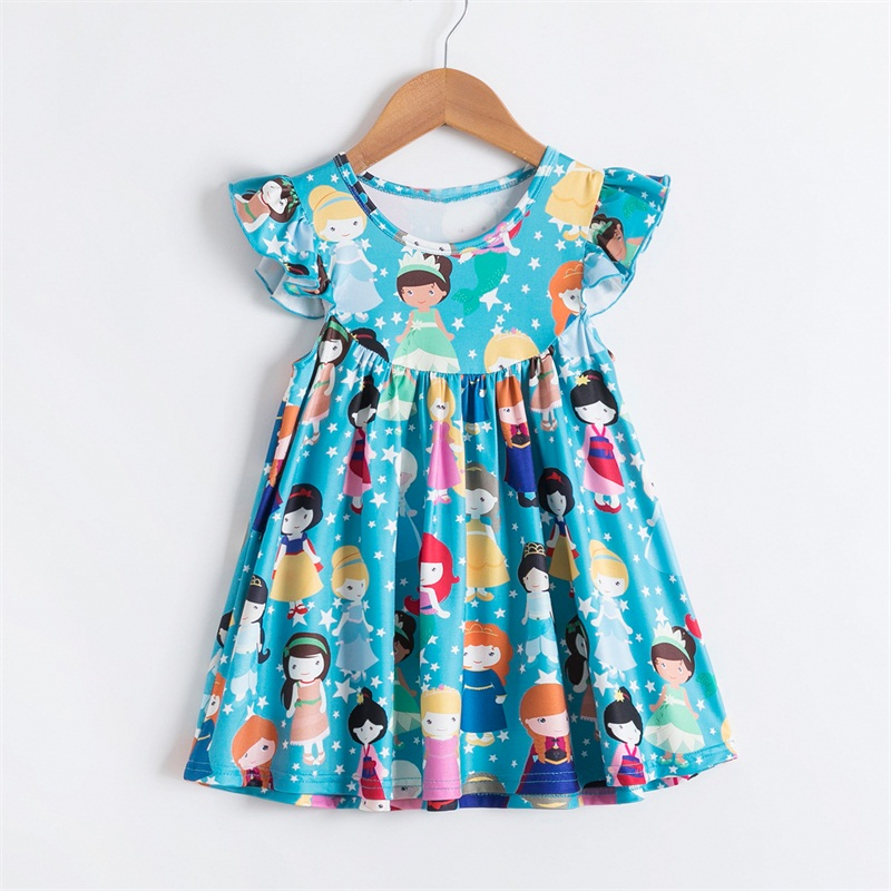 Summer Party Girls Dress Princess Costume Kids Dresses For Girls Holiday Gifts Children Boutique Beach Clothing Wear 2-6 Years 4
