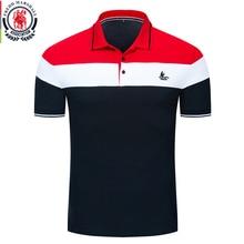 Fredd مارشال 2019 جديد الرجال يخت قميص بولو قصيرة الأكمام خليط قميص بولو الرجال التطريز قميص بولو الذكور ماركة الملابس 048