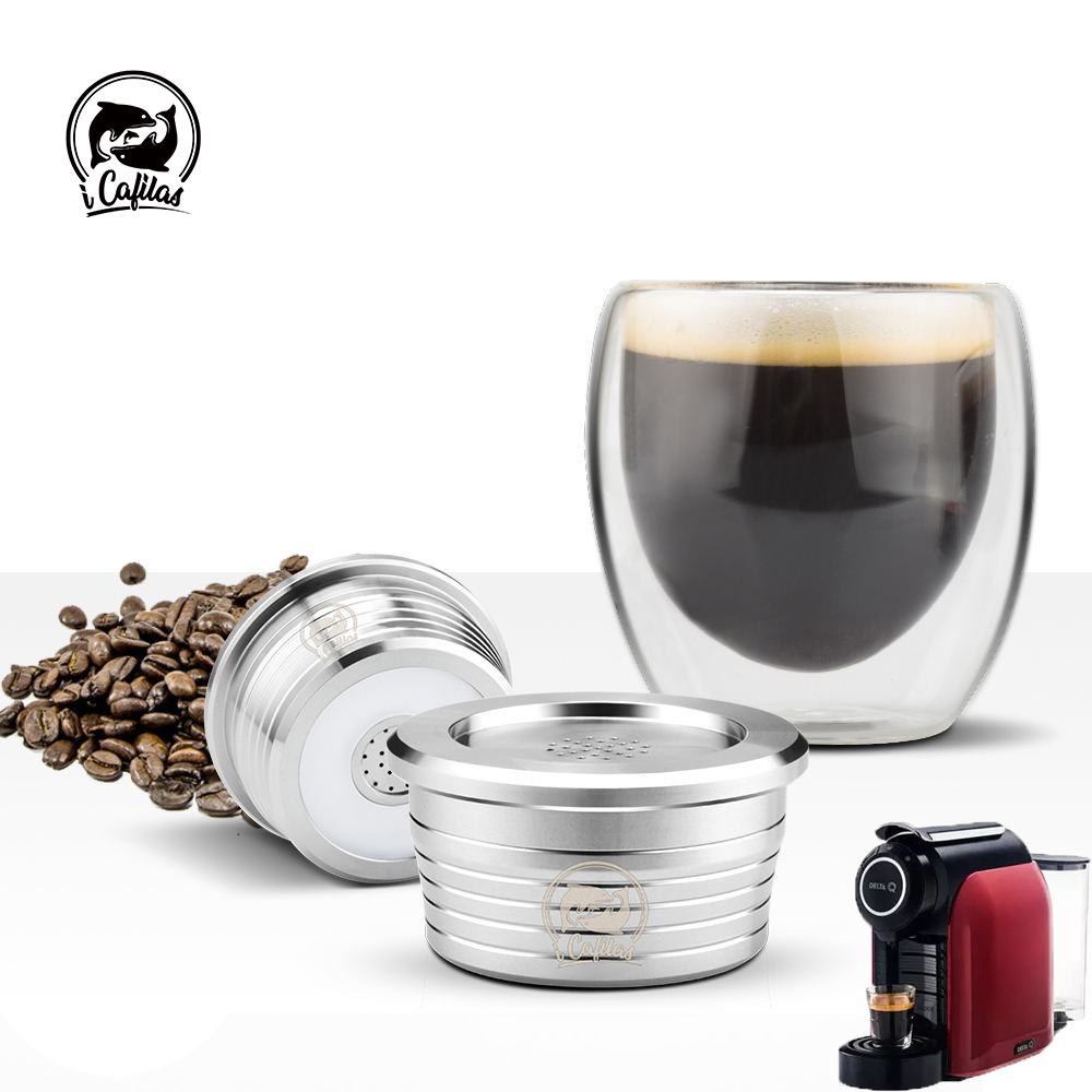 Coffee Capsule Reusable Filter For Delta Q NDIQ7323 & MILKQOOL Accessory Stainless Steel Coffee Dripper Lavazza EP MINI Filter