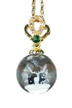 Женское Ожерелье с рождественским оленем letsfun подвеска в