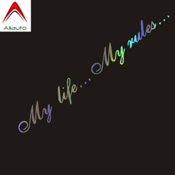 Aliauto Personality Words Car Sticker My Life...My Rule Automobiles Motorcycles Accessories Waterproof Laser PVC Decal,20cm*3cm car sticker dont touch my car fun automobiles