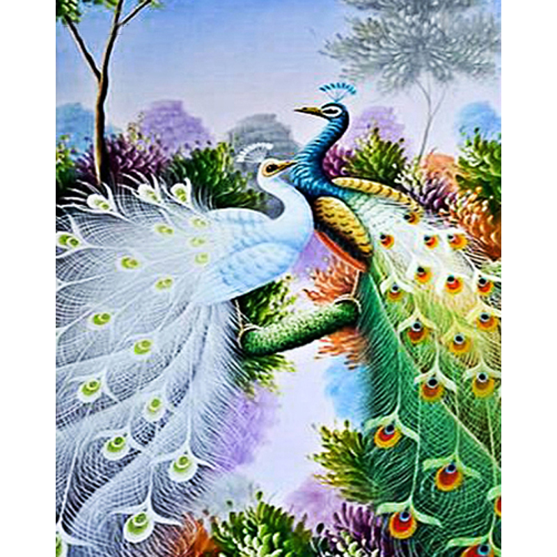 Peacock 5D Diy Diamond Painting Full Drill Home Decor Embroidery Mosaic Picture