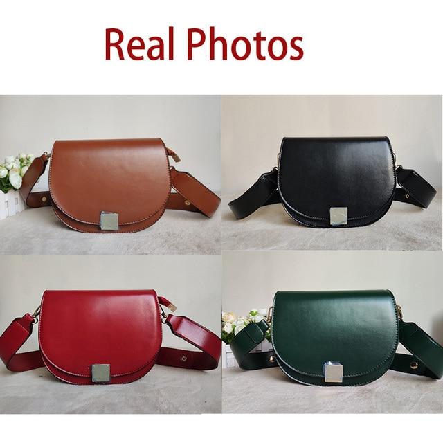Mododiino Vintage Crossbody Bags For Women 2019  Female Small Saddle Bag Leather Shoulder Bag Luxury Women Bag Designer DNV1057 2