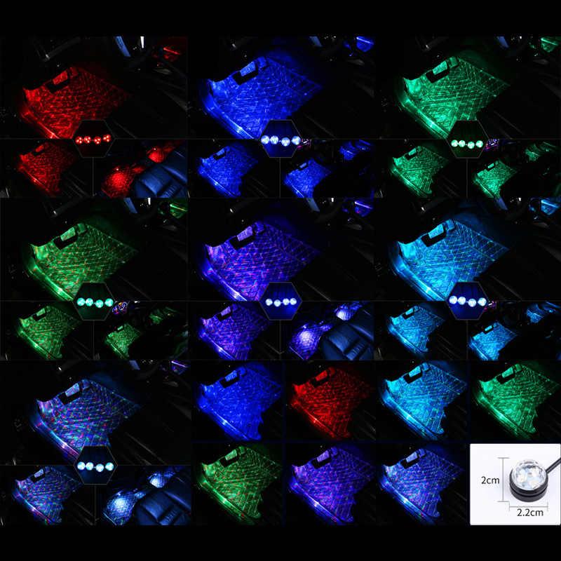 1set USB Car Interior luce di RGB LED Per La luce dell'automobile auto Decorative LED Bar Ambiente Piede Lampada Decorativa Dell'atmosfera lampade Per La Casa LED