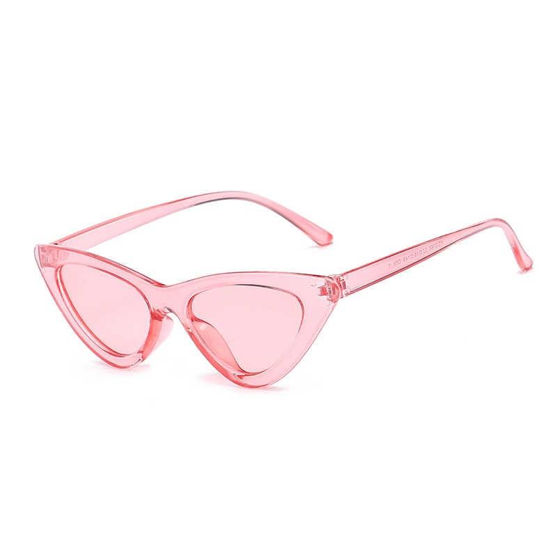 2020 carino Sexy Retrò Occhio di Gatto Occhiali Da Sole Delle Donne di Piccolo Nero Rosa Trasparente Triangolo Dell'annata A Buon Mercato Occhiali Da Sole Femminile Rosso Uv400